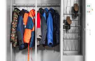 Quelles sont les armoires pour les combinaisons, un examen des modèles