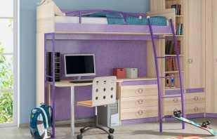 Caractéristiques d'un lit mezzanine en métal, les nuances du choix et de l'installation
