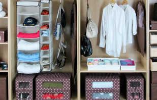 Façons de rangement compact des objets dans le placard, comment les plier