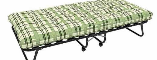 Variétés de lits pliants, conceptions et tailles