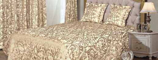 Les nuances du choix des couvre-lits pour un lit double, une combinaison avec l'intérieur