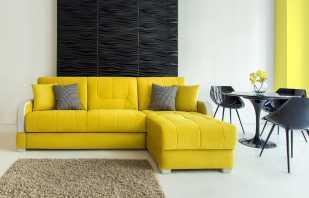 Règles pour choisir un canapé jaune, les couleurs compagnons les plus réussies