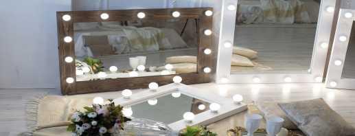 Variétés de miroirs avec ampoules, raisons de popularité chez les femmes