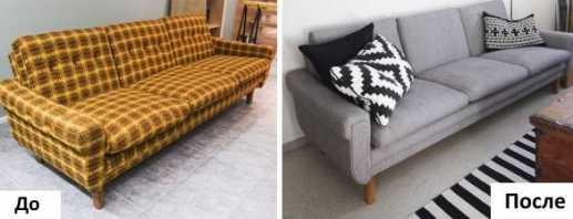 Caractéristiques de la restauration du canapé de vos propres mains, une séquence d'étapes