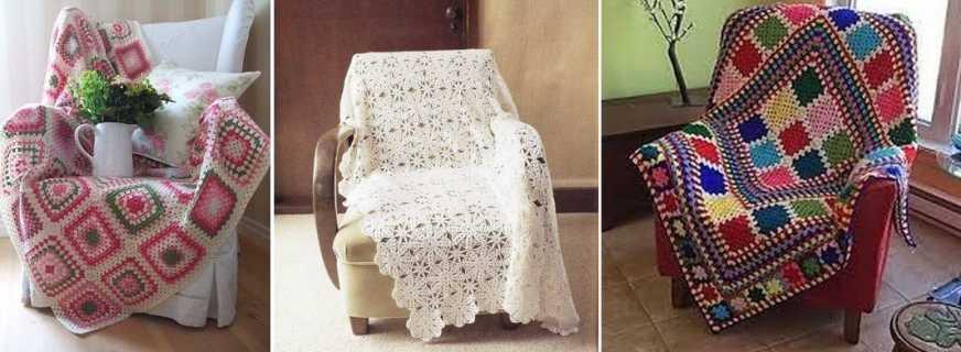 Comment crocheter une housse de chaise, étapes de travail, décoration appropriée