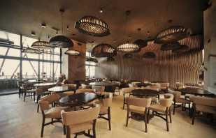Caractéristiques des meubles dans un café, les nuances de choix