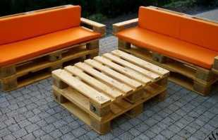 Options de meubles à partir de palettes, photos de modèles finis