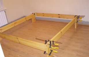Instructions étape par étape pour fabriquer un cadre de lit de vos propres mains