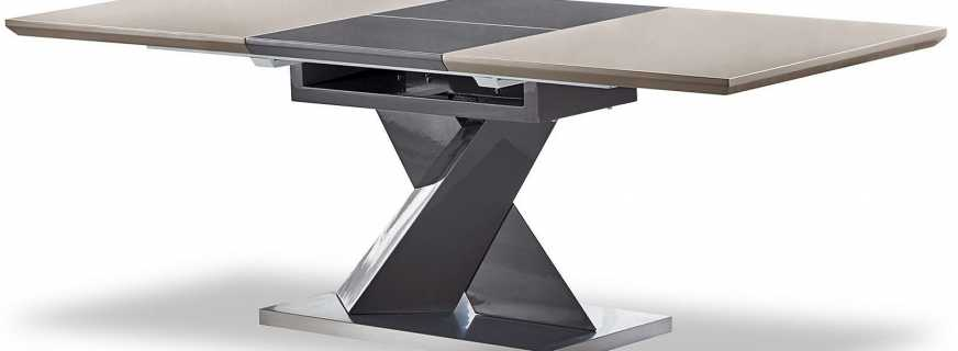 Caractéristiques de la conception de la table coulissante, bricolage
