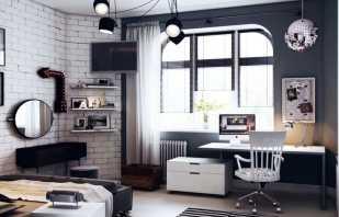 Vue d'ensemble des meubles dans la chambre de l'adolescent, règles de choix