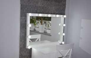 Types de miroirs de maquillage avec éclairage, conseils pour choisir et placer