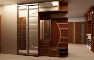 Vue d'ensemble des armoires du couloir et photos des options possibles