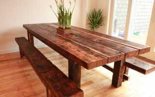 Atelier de bricolage pour fabriquer une table en bois