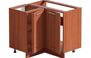 Options pour les armoires d'angle pour le lavage dans la cuisine, comment choisir