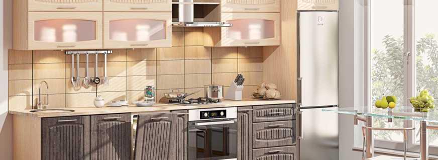 Normes de dimension pour les armoires de cuisine et leurs principaux paramètres