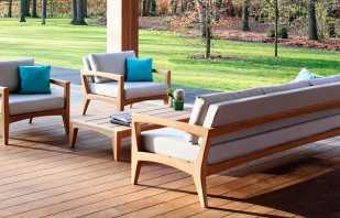 Caractéristiques du mobilier d'extérieur, les nuances du choix des matériaux résistants