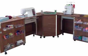 Caractéristiques fonctionnelles d'une table de couture, assemblage DIY