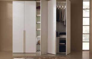 Comprend des armoires à charnières pour les vêtements, une revue des modèles