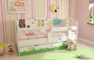 Une variété de lits avec pare-chocs, restrictions d'âge