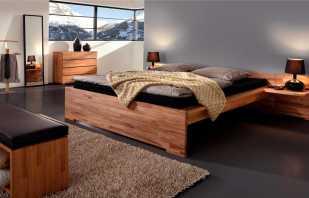 Avantages d'un lit double en bois, caractéristiques de conception et tailles
