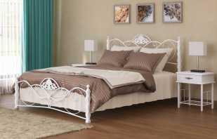 Caractéristiques d'un lit double en métal, critères de sélection
