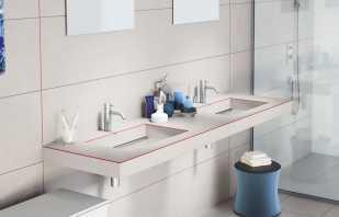 Variétés de tables de salle de bain, couleurs et designs populaires