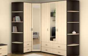 Options pour armoires d'angle avec miroir, aperçu du modèle