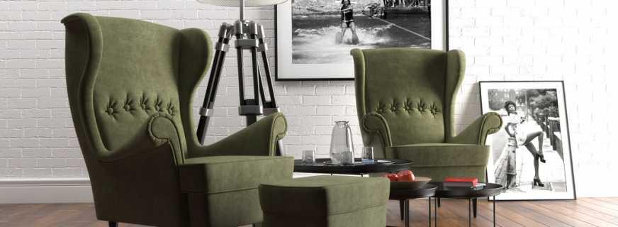 Construction et design de la chaise Ikea Strandmon, combinaison avec l'intérieur
