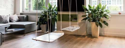 Conseils pour installer une balançoire dans l'appartement, les nuances de la combinaison avec l'intérieur