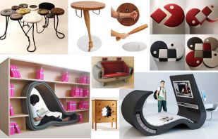 Variantes de mobilier insolite, produits design