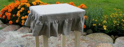 Conseils pour fabriquer des modèles simples de housses pour tabourets de bricolage