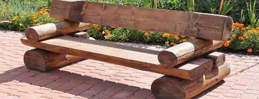 Conceptions modernes de bancs de jardin, bricolage