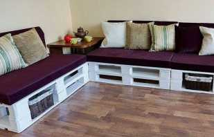 Fabrication de meubles à partir de palettes, exemples de photos