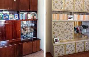 Façons de bricolage pour mettre à jour l'ancien mur de meubles, exemples sur la photo avant et après