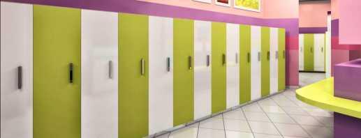 Caractéristiques des casiers pour les jardins d'enfants, les nuances de choix