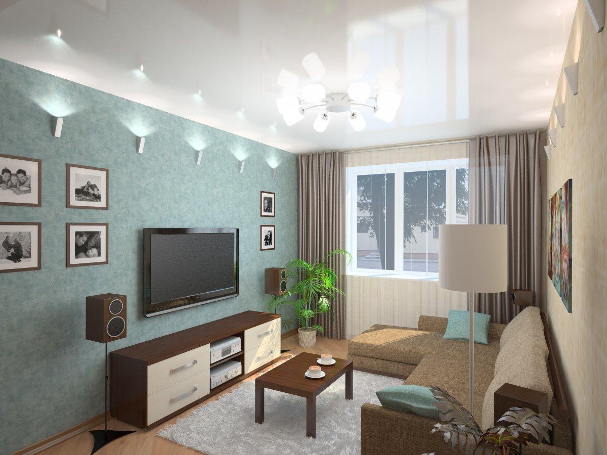 Disposition asymétrique des meubles dans le salon