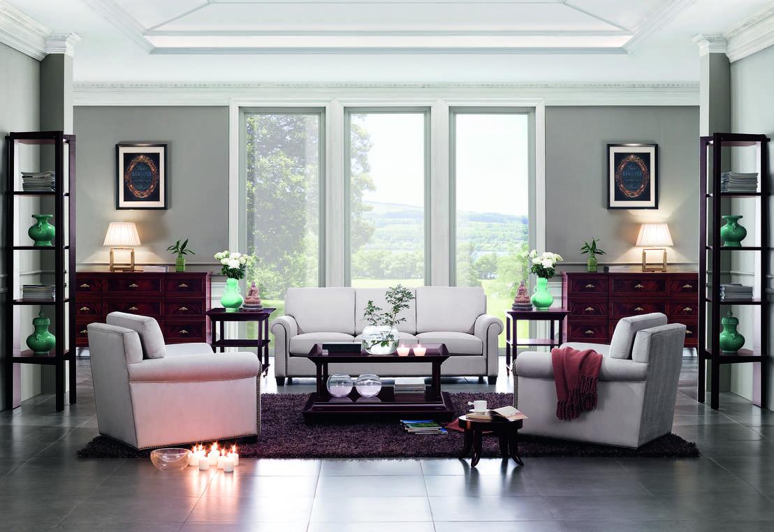 Comment créer un agencement asymétrique de meubles dans le salon