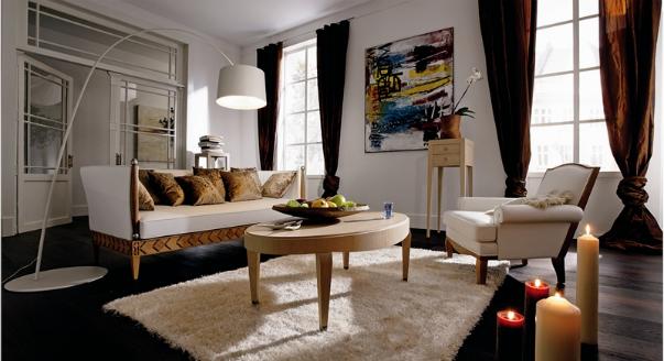 Disposition circulaire pratique des meubles dans le salon