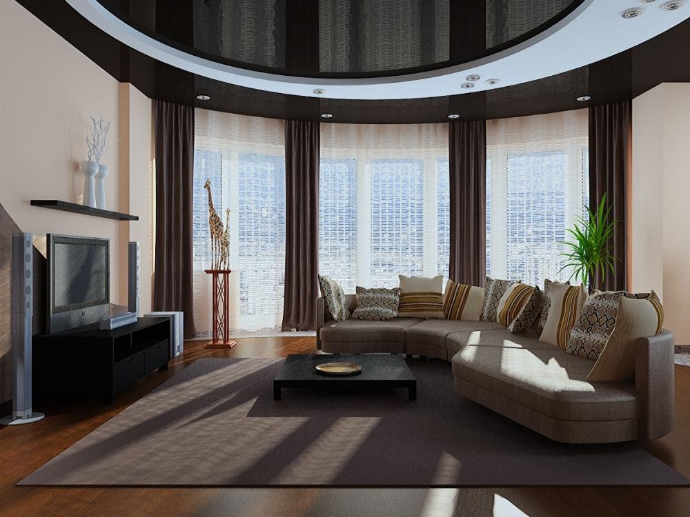 La possibilité de placer des meubles dans le salon
