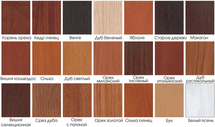 Noms des couleurs des meubles