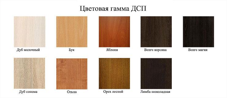 Jeu de couleurs de panneaux de particules