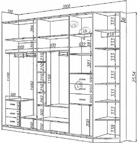 Dessins d'armoires