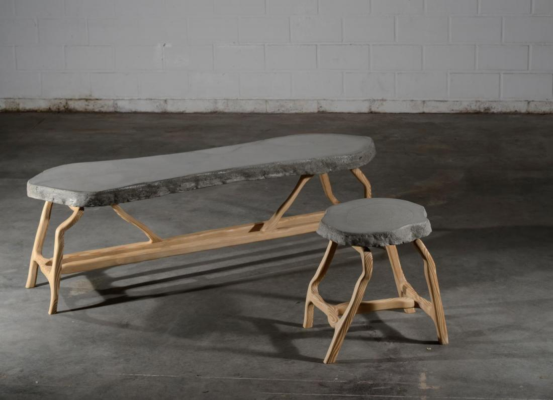 Canapé en béton