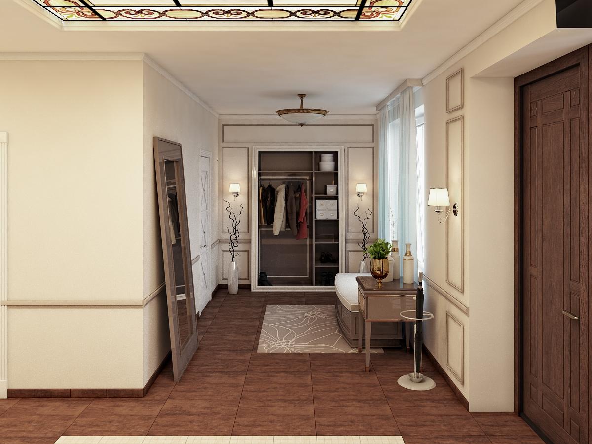 Grand couloir dans un style classique