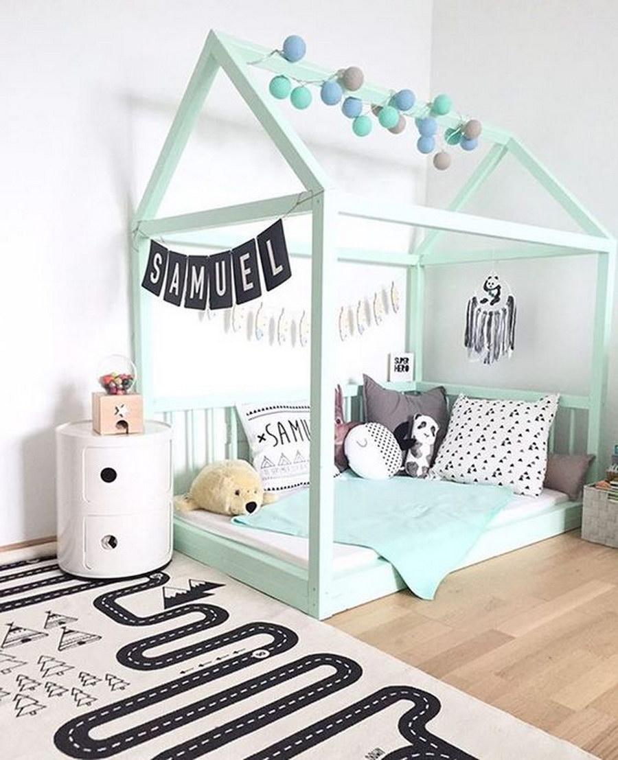 Chambre d'enfant turquoise