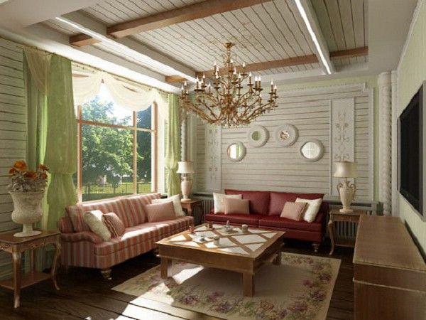 Design d'intérieur chalets aux couleurs vives
