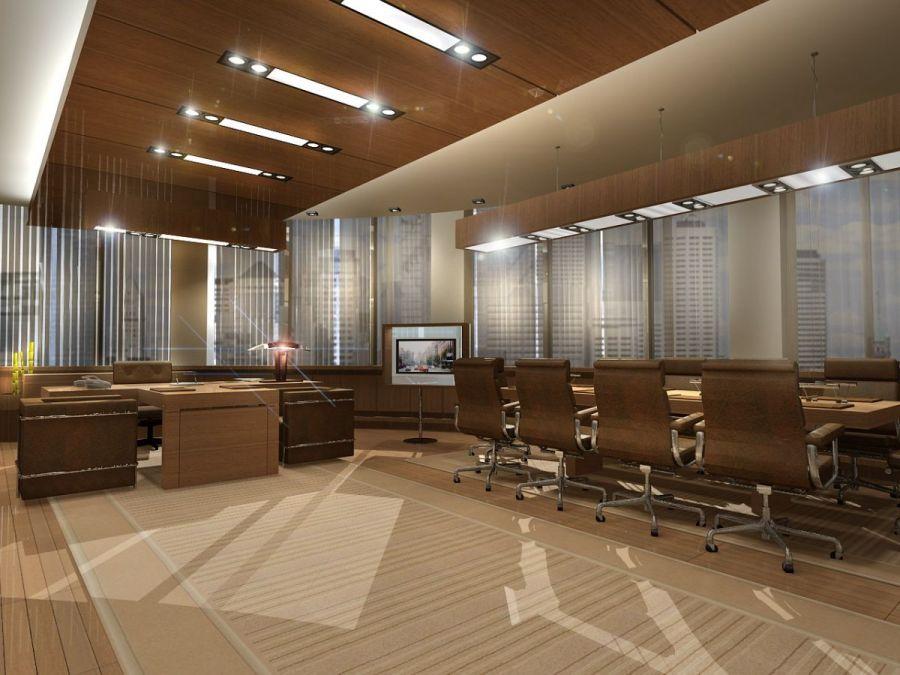 Design d'intérieur de bureau de minimalisme