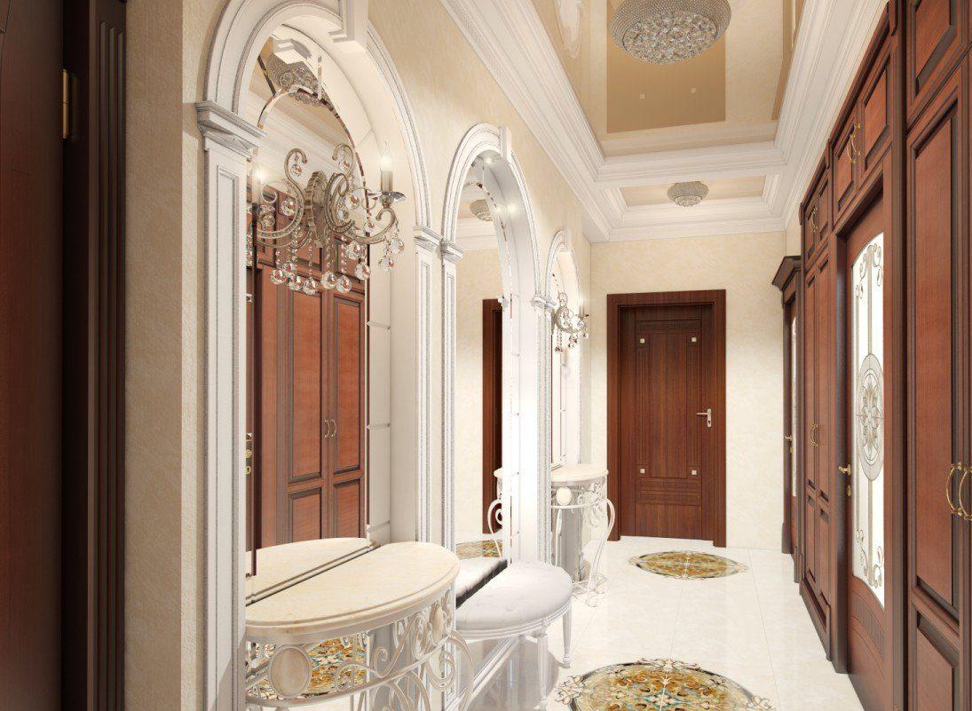 La conception du couloir dans un style classique
