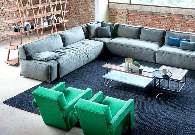 L'idée de concevoir un salon spacieux