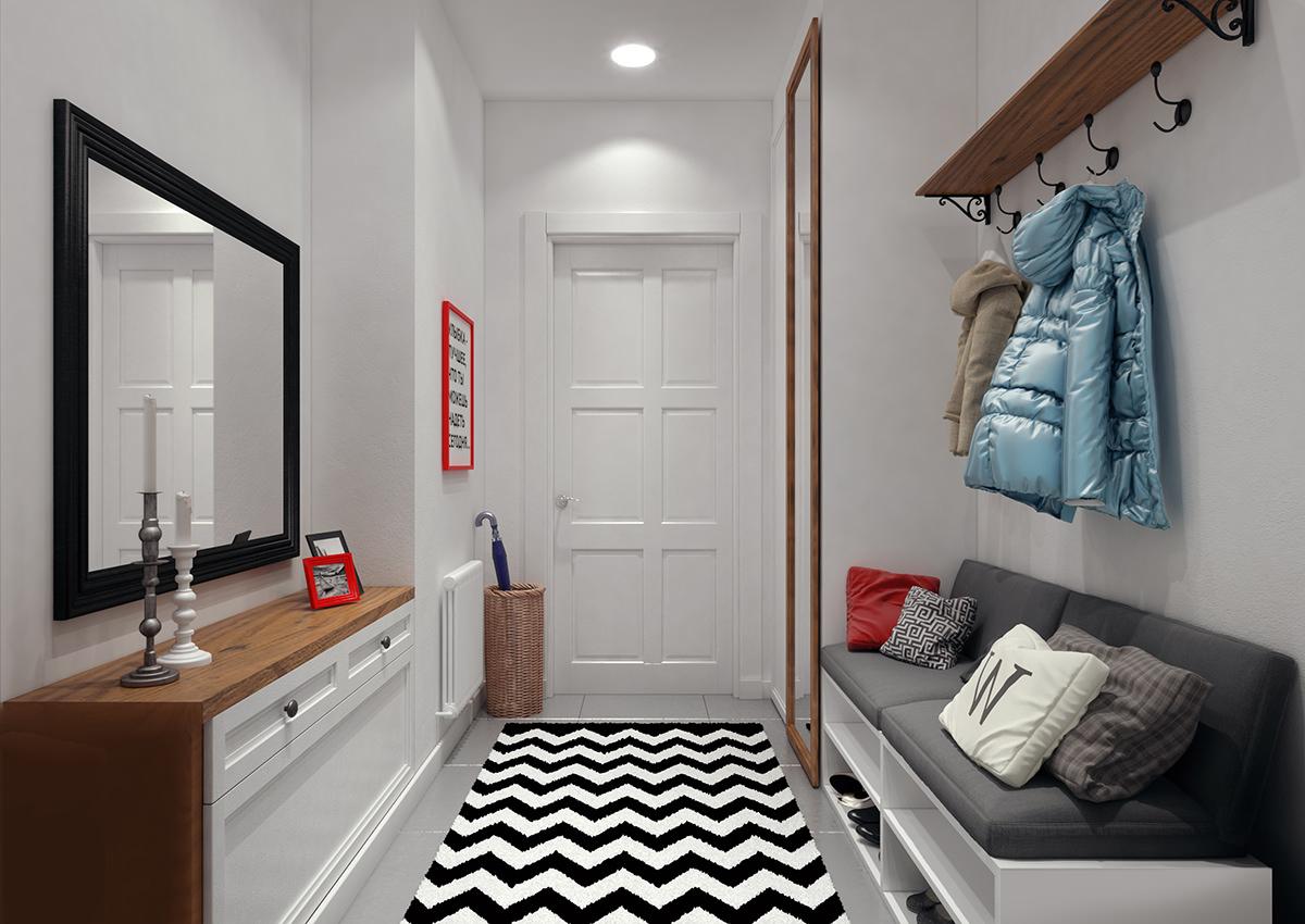 Couloir confortable avec canapé